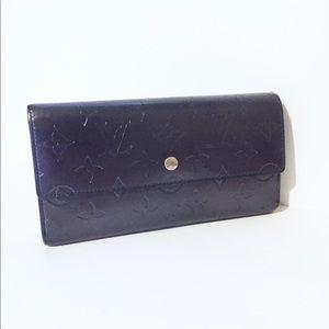 Louis Vuitton vernis Sarah long snap wallet
